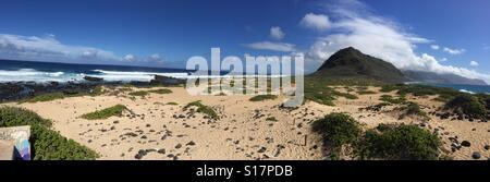 Kaena point, Oahu, Hawaii - Stock Photo