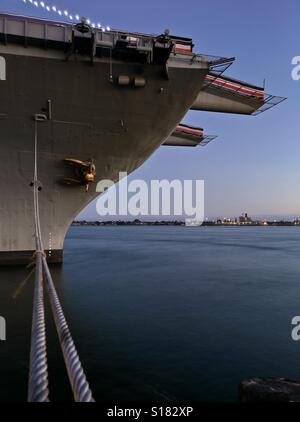 USS Midway Aircraft Carrier Museum in San Diego, California, USA. Taken 8 July 2016 - Stock Photo