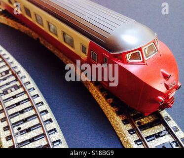 Marklin Trans Europe Express model train set - Stock Photo