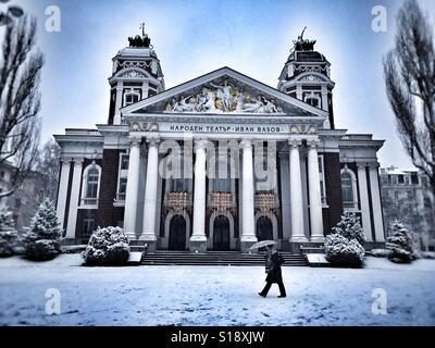 National Theatre Ivan Vasov Sofia Bulgaria - Stock Photo