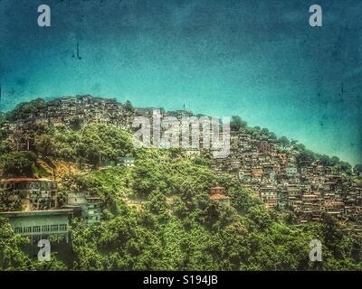One of favelas of Rio de Janeiro - Stock Photo