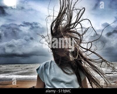 Wild hair day. - Stock Photo