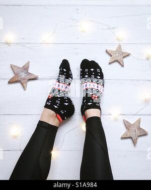 Patterned socks - Stock Photo