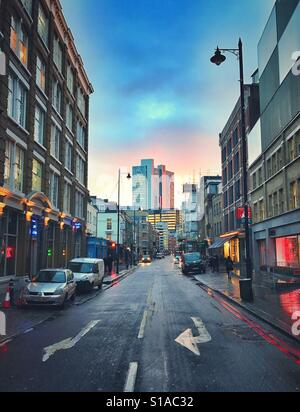 Curtain Road, Shoreditch, London - Stock Photo