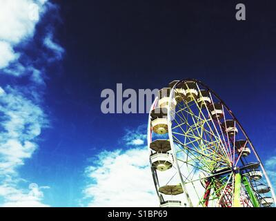 Ferris Wheel at Evergreen State Fair in Puyallup,Washington State - Stock Photo