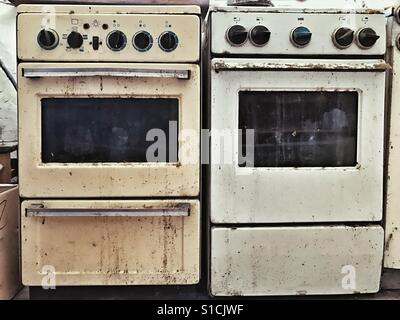 Old gas stoves - Stock Photo