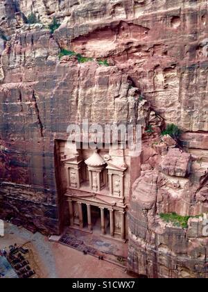 A beautiful view of The Treasury in Petra, Jordan. - Stock Photo