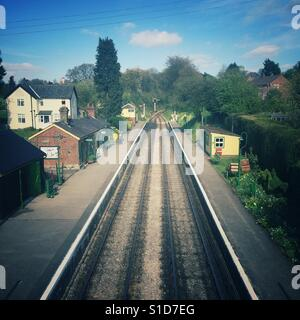 Medstead and Four Marks railway station, Mid-Hants railway, Hampshire, England, United Kingdom. - Stock Photo
