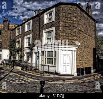 Georgian Terrace in Greenwich - Stock Photo