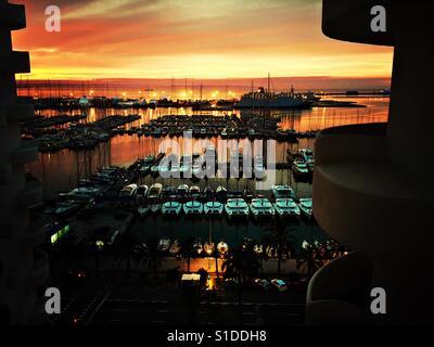 Sunrise in Palma de Mallorca - Stock Photo