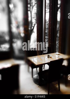 The restaurant of Royal Garden Hotel in Hong Kong - Stock Photo