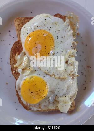 how to cook sunny side up eggs on cast iron