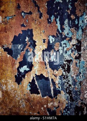 Abstract wall with paint textures - Stock Photo