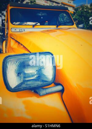 2CV front light close-up - Stock Photo