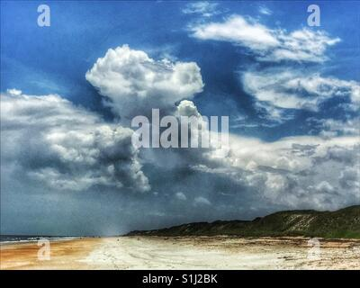 Storm clouds building over the dunes, South Ponte Vedra Beach, Florida - Stock Photo