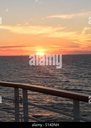 Sunset over the Gulf of Mexico. - Stock Photo