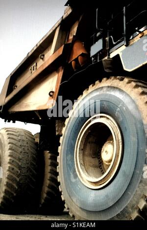Fort McMurray tar sands oil recovery field equipment, large heavy hauler - Stock Photo