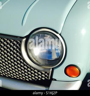 Vintage car headlights and turn signal - Stock Photo
