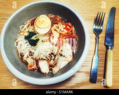 Waitrose Asian chilli chicken Ramen - Stock Photo