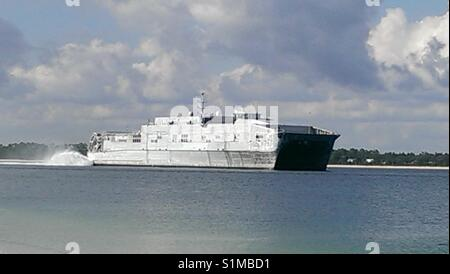 USNS Fall River, Spearhead Class Expeditionary Fast Transport, EPF, is part of the  US Military Sealift Command - Stock Photo