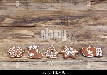 Christmas gingerbread cookies - Stock Photo