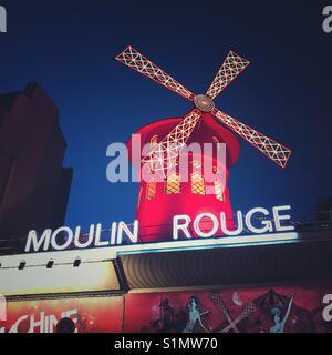 The Moulin Rouge, Paris, France - Stock Photo