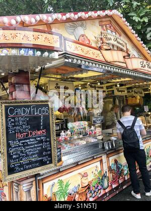 Food stand, St Giles' Fair, Oxford - Stock Photo