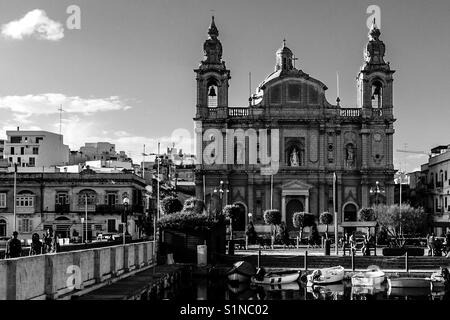 St Joseph's Church, Msida, Malta, September 2017 - Stock Photo