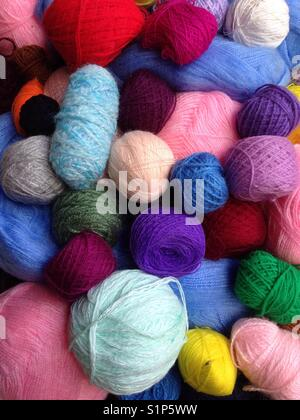 Yarn balls. - Stock Photo