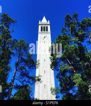 Sather Tower campanile, University of California, Berkeley - Stock Photo