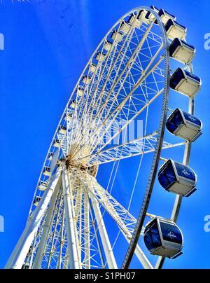 The sky wheel Ferris wheel on the boardwalk, Myrtle Beach, South Carolina, USA - Stock Photo