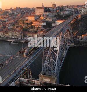 Sunset in Oporto - Stock Photo