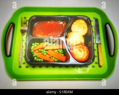 Individual TV dinner - Stock Photo