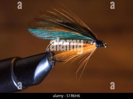 Tying a fly - Stock Photo