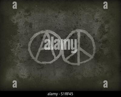 Anarchy Symbol On Grunge Background Stock Photo 51770382 Alamy