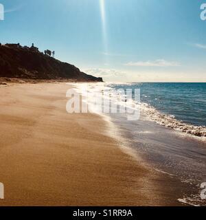 Point Dume Beach in Malibu California USA - Stock Photo