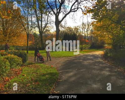 Waterlow Park in Highgate Village in a London, England on November 19 2017 - Stock Photo