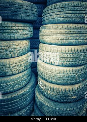 Stock of tires - Stock Photo