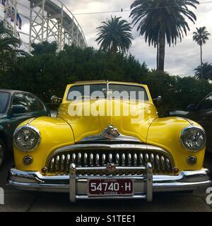 American vintage Buick car in St. Kilda Melbourne - Stock Photo