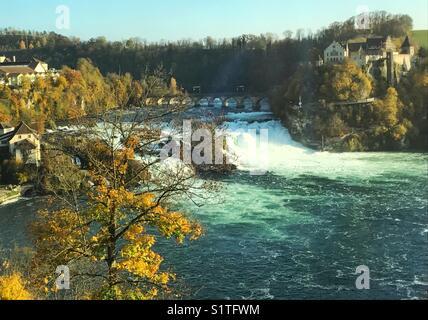 Rhine falls in Switzerland - Stock Photo