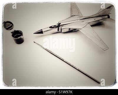 Soviet era Mig-23S fighter jet model - Stock Photo