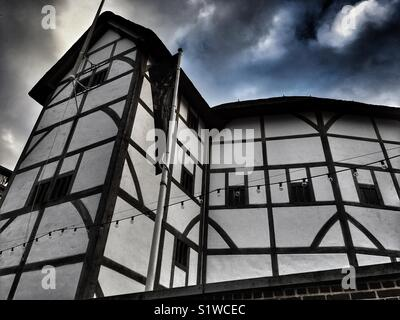 Shakespeare's Globe at Bankside in London, England - Stock Photo