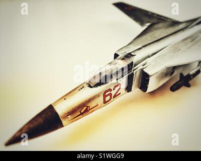Mig 23 model aircraft - Stock Photo