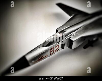 Mig-23S Flogger B 1/72 scale model - Stock Photo