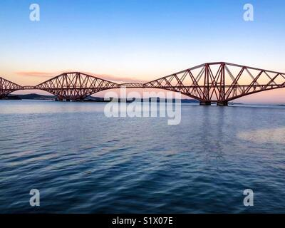 Forth Bridge over the River Forth from South Queensferry - 27 December 2017 - Photographer : Brian Duffy - Stock Photo