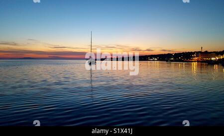 Beautifull summer sunset in adriatic sea - Stock Photo