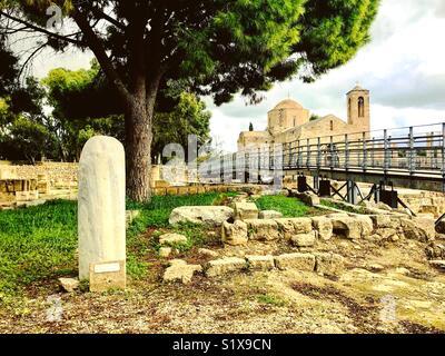 St. Paul's Pillar, Kato Paphos, Cyprus - Stock Photo