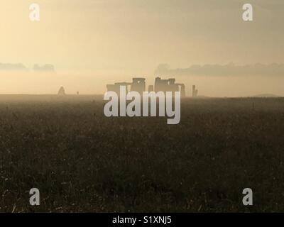 Sunrise at Stonehenge. - Stock Photo