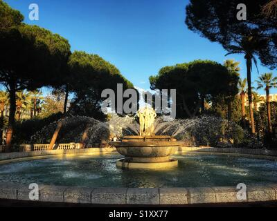 Fountain in Nice, France - Stock Photo