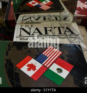 Reflecting on NAFTA - Stock Photo